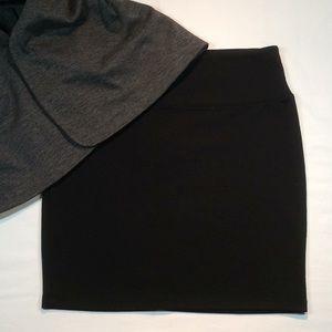 Xhilaration Black Midi Skirt
